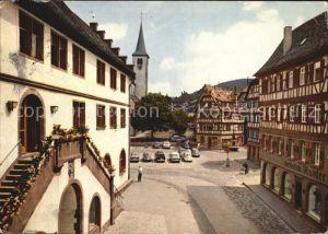 Mosbach Baden Rathaus und Marktplatz Kat. Mosbach