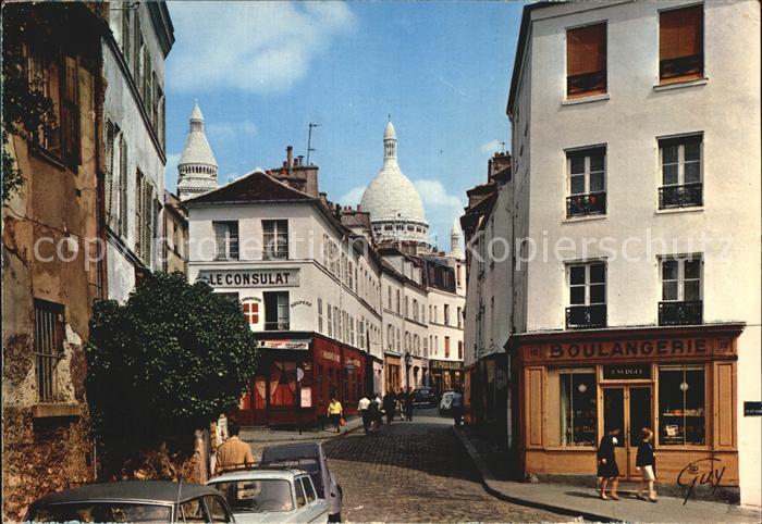 Paris et ses Merveilles Place Jean Baptiste Clement et la rue Norvins Kat. Paris