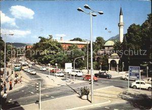 Sarajevo Strassenpartie Minarett Kat. Sarajevo