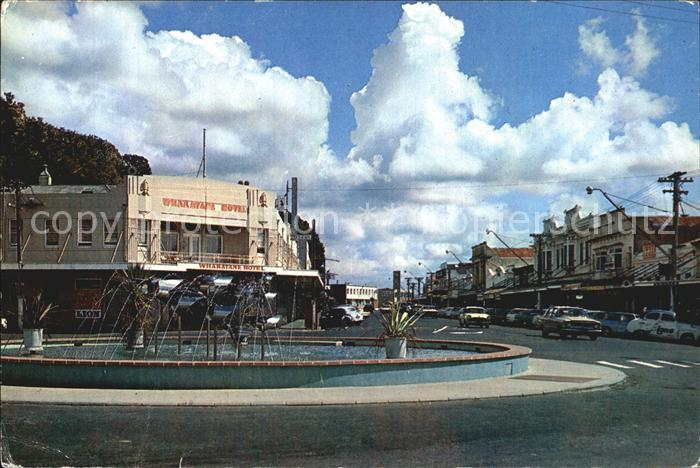 Whakatane Fountain and shopping area Kat. Whakatane