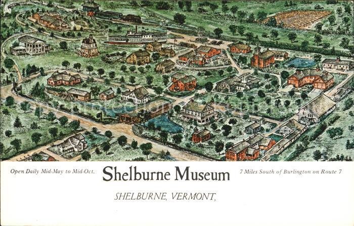 Shelburne Vermont Shelburne Museum Kuenstlerkarte Kat. Shelburne