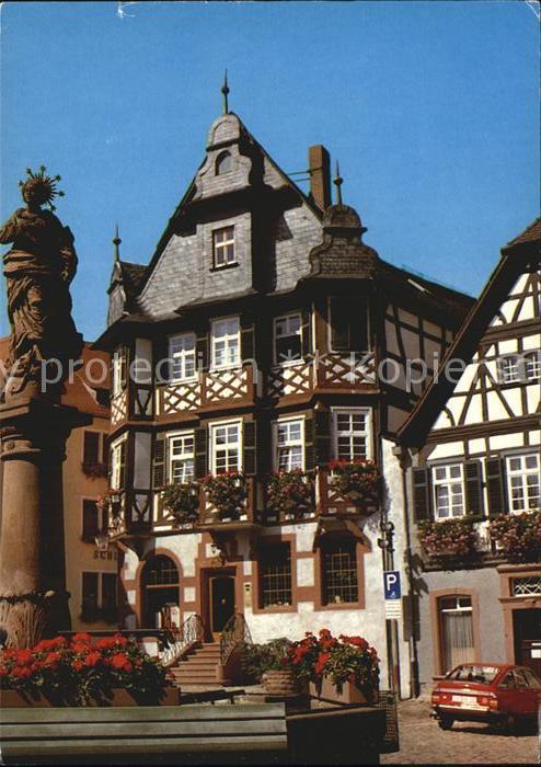 Heppenheim Bergstrasse Marienbrunnen Liebig Apotheke Marktplatz Kat. Heppenheim (Bergstrasse)
