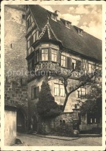 Rothenburg Tauber Erker beim weissen Turm Kat. Rothenburg ob der Tauber