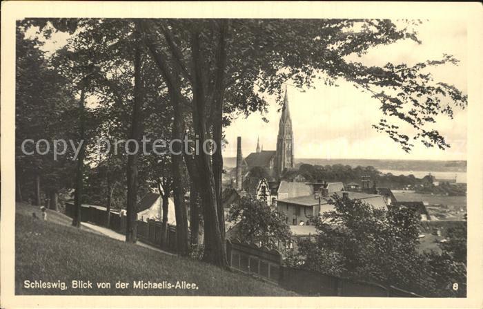 Schleswig Holstein Blick von der Michaelis Allee Kat. Schleswig