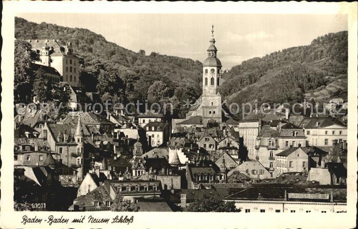 Baden Baden mit neuem Schloss Kat. Baden Baden