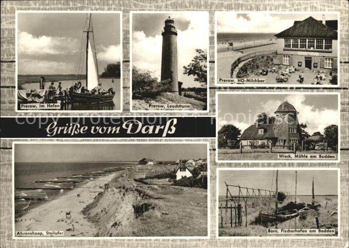 Darss Region Ostsee Prerow Leuchtturm Wieck Muehle am Bodden Born Fischerhafen Ahrenshoop Kat. Wieck Darss
