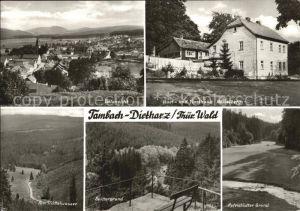 Tambach Dietharz Gasthaus Nesselberg Spittergrund Mittelwasser Kat. Tambach Dietharz