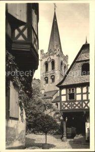 Bacharach Rhein Partie an der Kirche Fachwerkhaus Kat. Bacharach