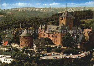 Burg Wupper Schloss Wahrzeichen des Bergischen Landes Silhouette Stadt Remscheid Fliegeraufnahme Kat. Solingen