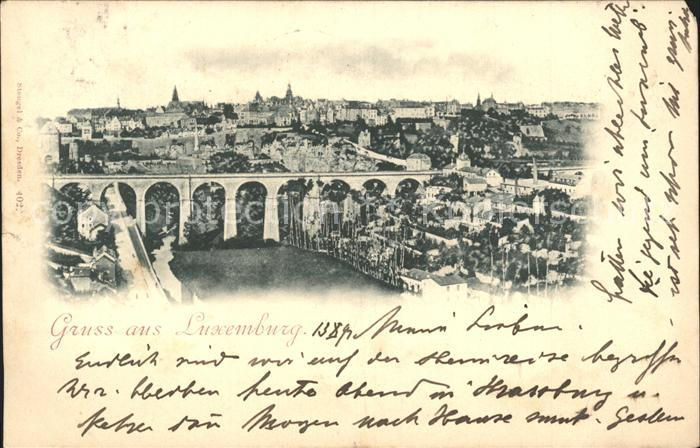 Luxemburg Luxembourg Panorama Viadukt Kat. Luxemburg