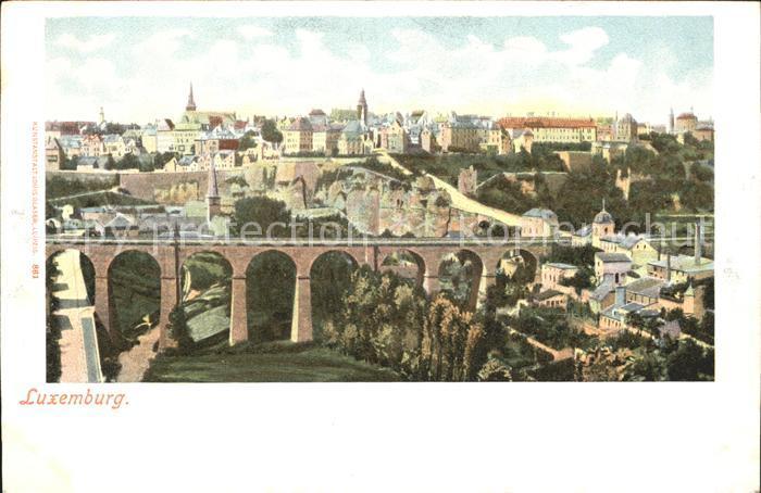 Luxemburg Luxembourg Stadtansicht Viadukt Kat. Luxemburg