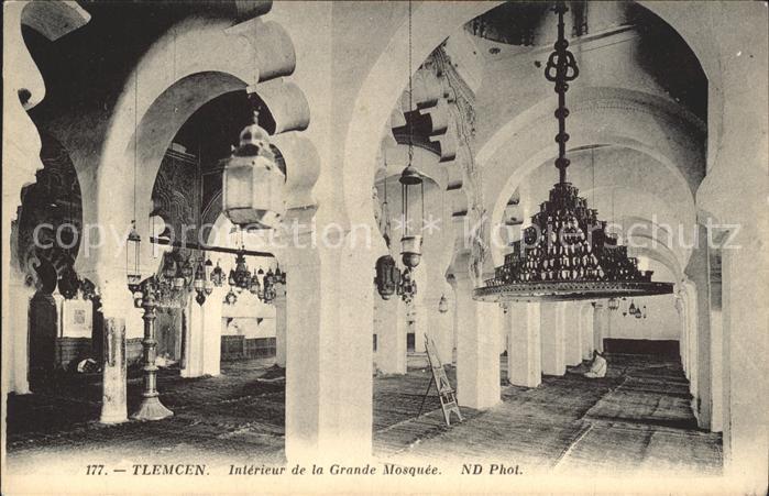 Tlemcen Interieur de la Grande Mosquee Kat. Algerien