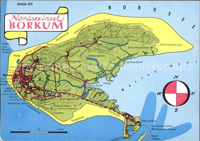 Borkum Nordseebad Landkarte Insel Nordseebad Borkum Leer Lkr Nr