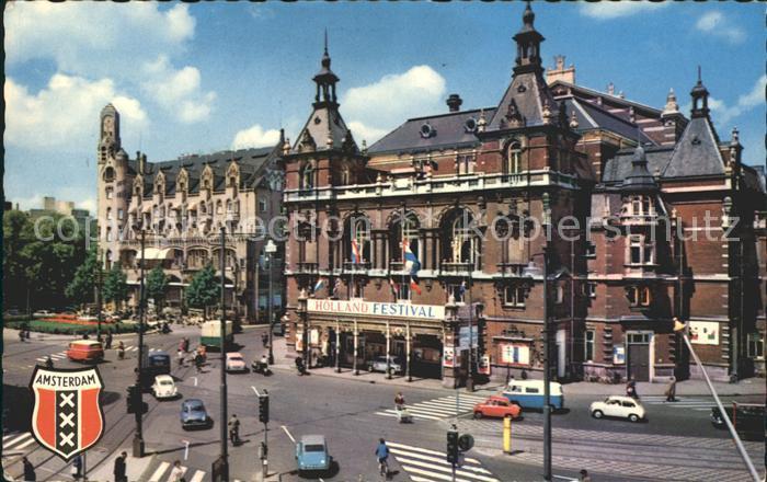 Amsterdam Niederlande Museum Hotel Leidseplein Wappen Kat. Amsterdam
