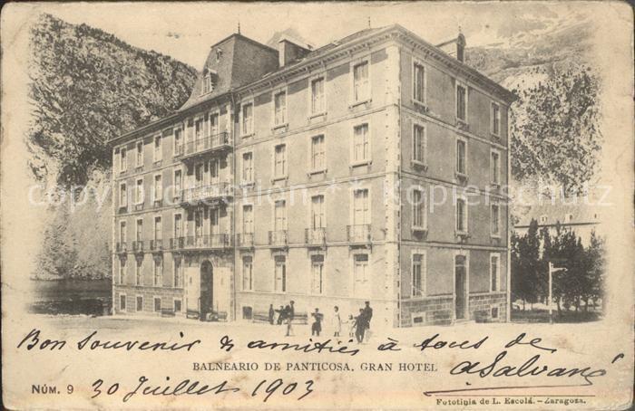Panticosa Balneario Gran Hotel Wappen Krone Kat. Spanien