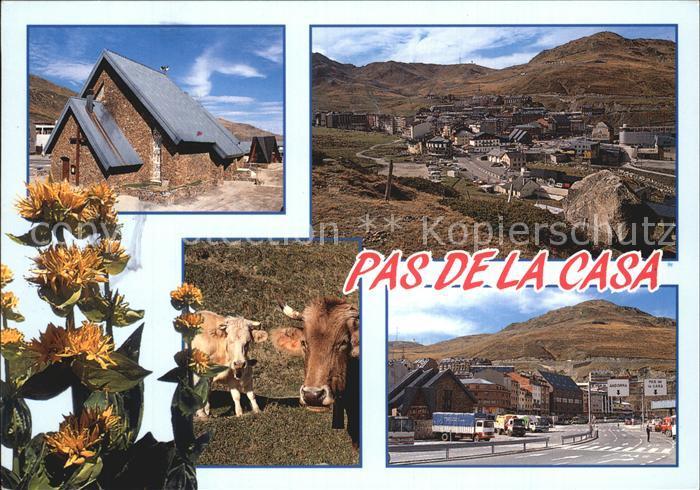 Pas de la Casa Valls Andorra Berghuetten Zollstation Kat. Andorra La Vella