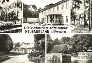 Neufahrland Kliniksanatorium Heinrich Heine Rosengarten Badehaus Haupthaus Waldhaus Bootshaus Kat.