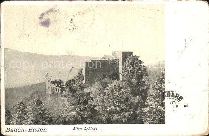 Baden Baden Altes Schloss Ruine Kat. Baden Baden