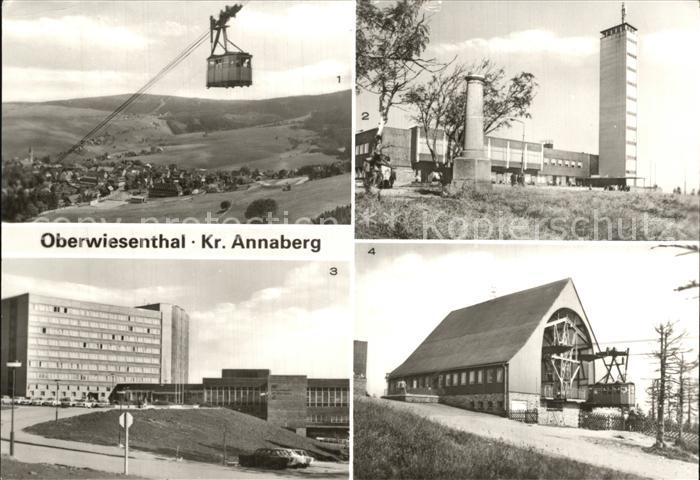 Oberwiesenthal Erzgebirge Fichtelberghaus Erholungsheim Schwebebahn Kat. Oberwiesenthal