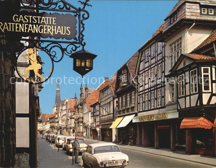 Hameln Osterstrasse mit Marktkirche Kat. Hameln
