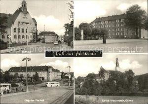 Heidenau Sachsen Heidenau Sued Platz der Freiheit Rathaus Schloss Weesenstein  Kat. Heidenau