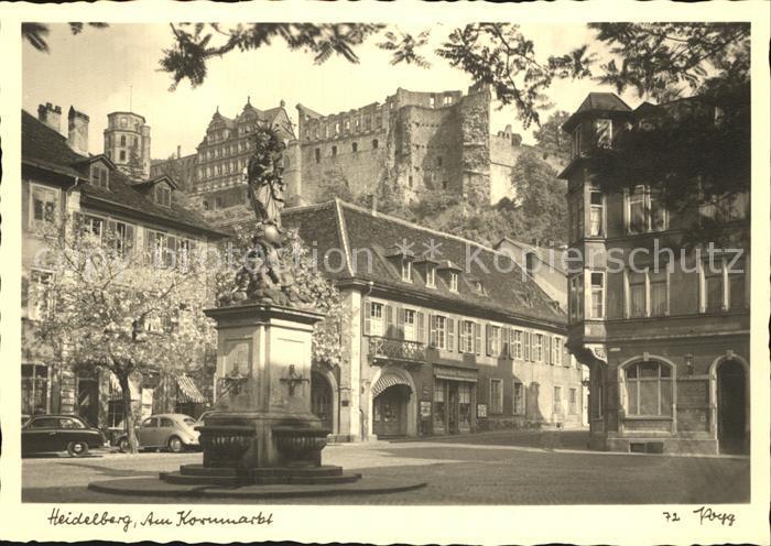 Heidelberg Neckar Am Kornmarkt Kat. Heidelberg