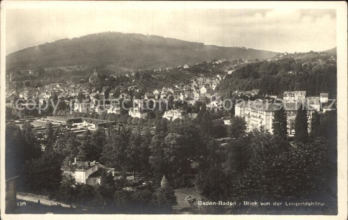 Baden Baden Blick von Leopoldshoehe Kat. Baden Baden