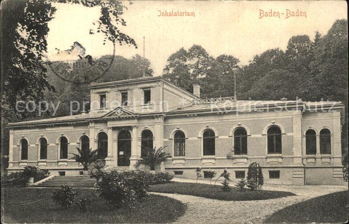 Baden Baden Inhalatorium Kat. Baden Baden
