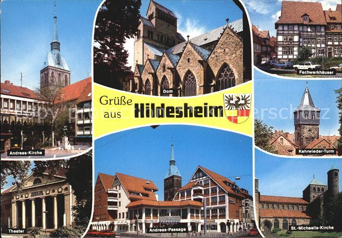 Hildesheim Andreas Kirche Fachwerkhaeuser Andreas Passage Theater Kat. Hildesheim