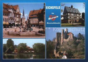 Eichsfeld Duderstadt Duderstadt Gieboldehausen Seeburger See Burg Hanstein Kat. Duderstadt