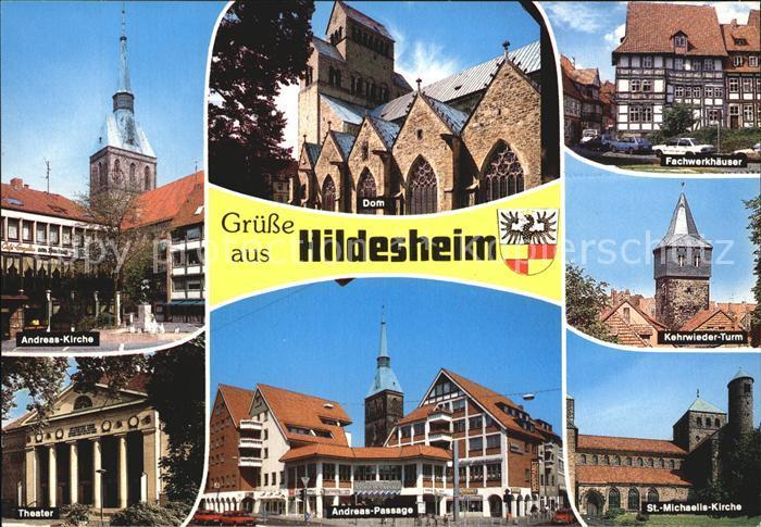 Hildesheim Andreas Kirche Fachwerkh?user Theater Michaeliskirche Kat. Hildesheim