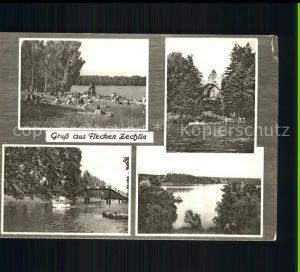Flecken Zechlin Badestrand am Schwarzen See Rheinsberger Seenplatte Kat. Rheinsberg