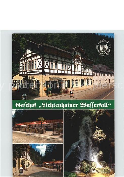 Lichtenhain Sebnitz Gasthaus Lichtenhainer Wasserfall  Kat. Sebnitz