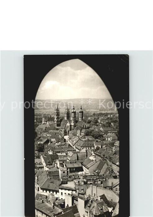 Naumburg Saale Blick von der Wenzelskirche auf den Dom Kat. Naumburg