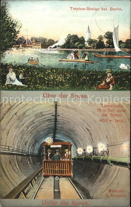 Stralau Strahlow Tunnelbahn u.Spree /  /