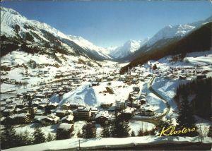 Klosters GR mit Silvrettagletscher Canardhorn Wisshorn Kat. Klosters
