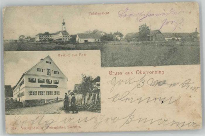 Oberroning Oberroning Laaber Gasthof Post  x 1902 / Rottenburg a.d.Laaber /Landshut LKR