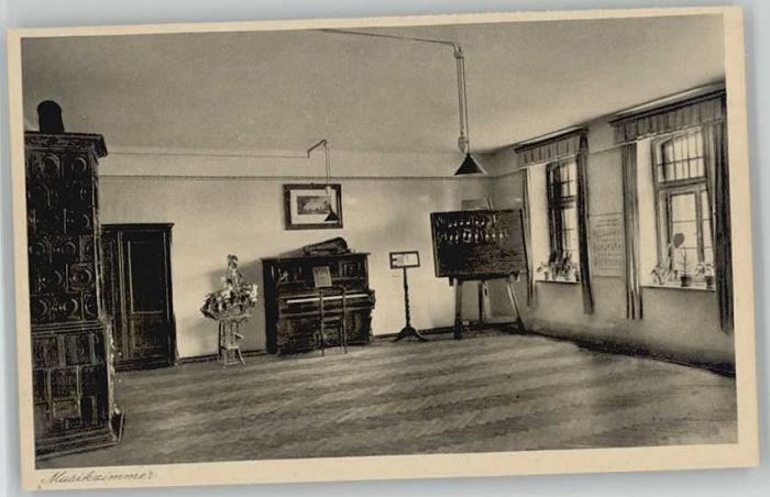 Oberroning Oberroning Laaber Salesianerinnen Institut Musikzimmer ungelaufen ca. 1920 / Rottenburg a.d.Laaber /Landshut LKR