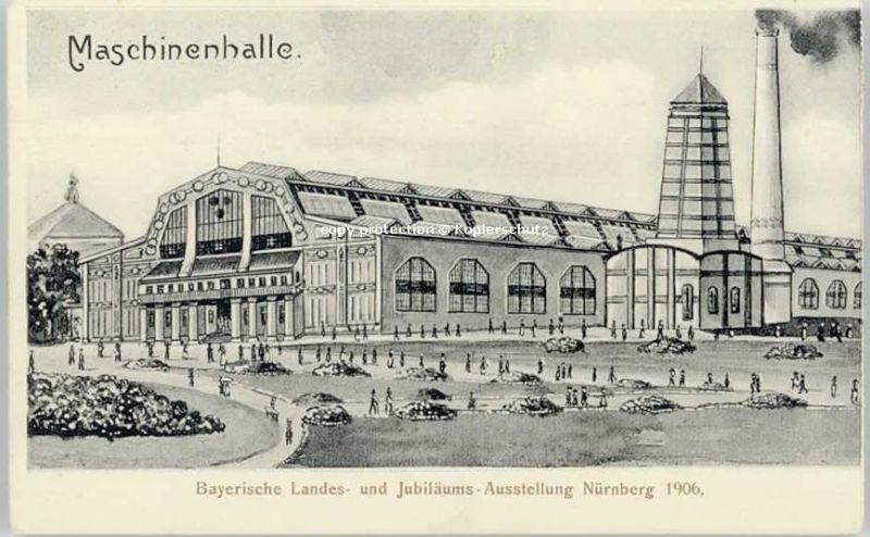 Nuernberg Nuernberg Mittelfranken Maschinenhalle o 1906 / Nuernberg /Nuernberg Stadtkreis