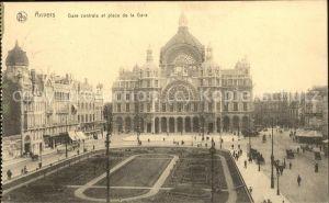 Anvers Antwerpen Gare centrale et place de la Gare Feldpost Kat.