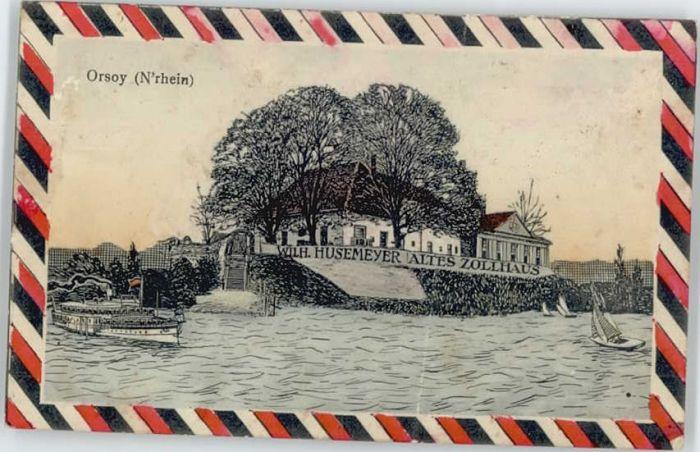 Orsoy Rhein Orsoy Niederrhein Husemeyer altes Zollhaus x / Rheinberg /Wesel LKR
