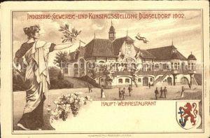 Ausstellung Industrie Gewerbe Kunst Duesseldorf 1902  Haupt Weinrestaurant  Kat. Duesseldorf