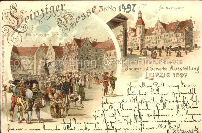 wx75928 Ausstellung Industrie Gewerbe Leipzig 1897 Saechsisch Thueringische Nasc