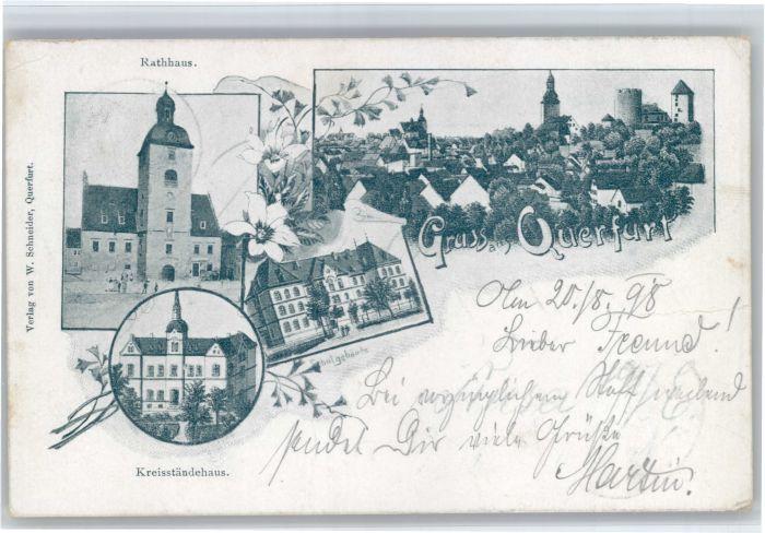 Querfurt Querfurt Rathaus Kreisstaendehaus x / Querfurt /Saalekreis LKR