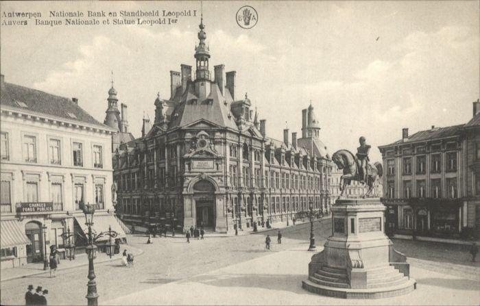 Antwerpen Anvers Antwerpen Anvers Bank Standbeeld Leopold Statue * /  /