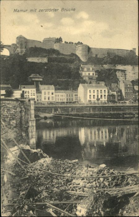 Namur Wallonie Namur Zerstoerte Bruecke x /  /