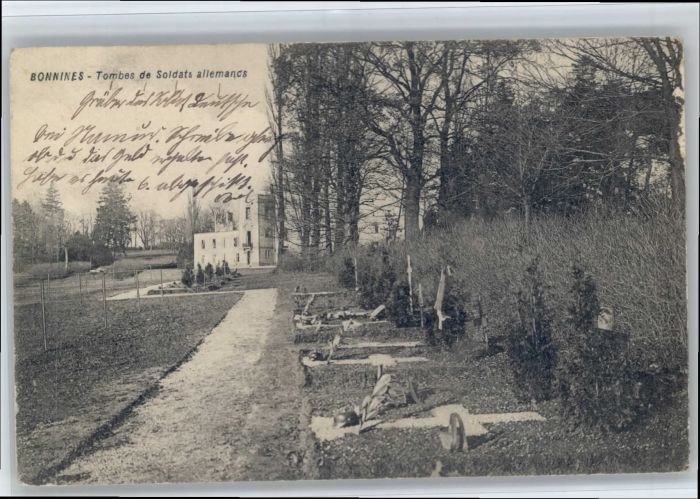 Bonnines Bonnines Tombes Soldats Allemands * /  /