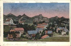 Dittersbach Wilhelminenwand Marienfels Rabenstein Falkenstein x