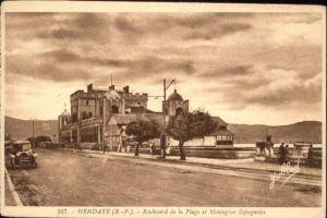 Hendaye Pyrenees Atlantiques Boulevard Plage Montagnes Espagnoles * / Hendaye /Arrond. de Bayonne