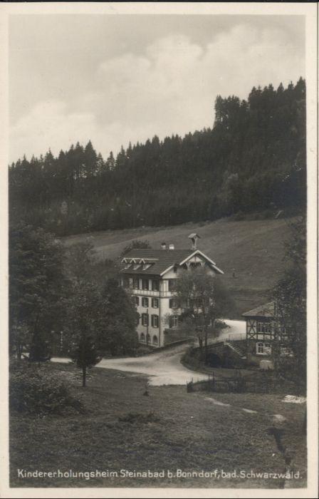 Bonndorf Schwarzwald Steinasaege Kindererholungsheim Steinabad * / Bonndorf /Waldshut LKR